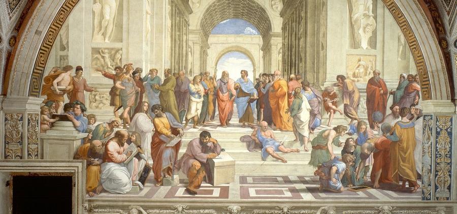 L'école d'Athènes_Raffaello Sanzio_L'inconsolable-André-Comte Sponville- Les Petites Analyses - Johan Creeten