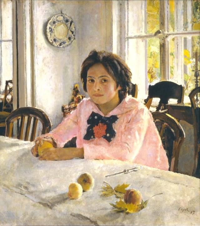 Tableau de la jeune filles aux pêches (Serov) - 1887